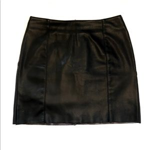 Black leather mini skirt (H&M)